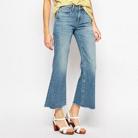 M.I.H Jeans Lou Crop Bell Bottom Jeans