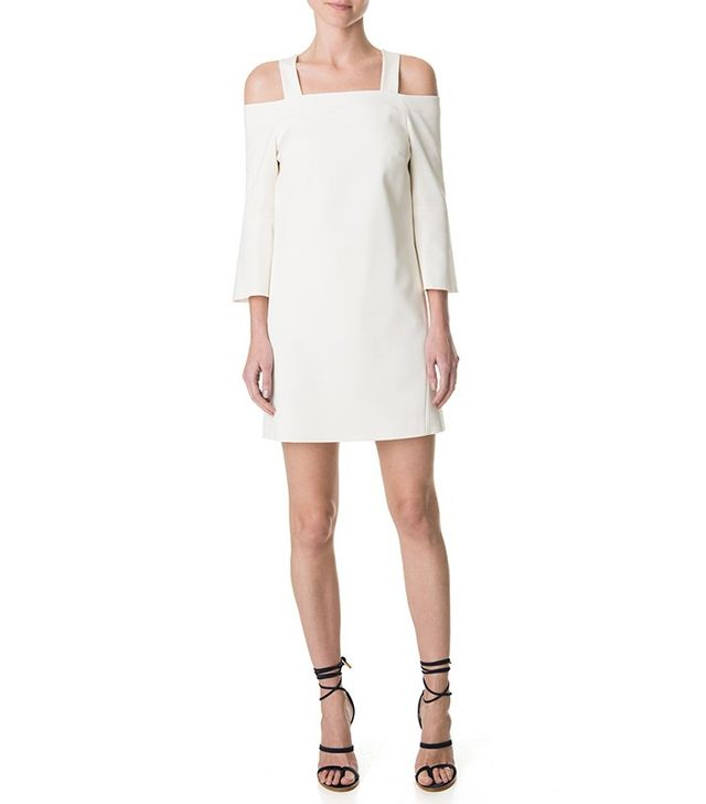 Tibi Stretch Faille Lantern Sleeve Dress