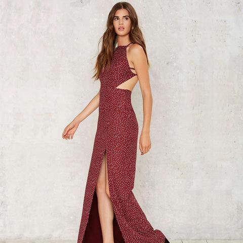 Let's Talk Figures Slit Dress