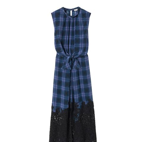 Plaid Dress with Lace