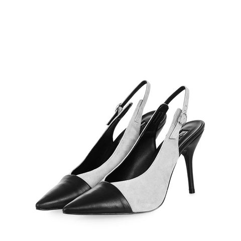 Gloria Toecap Slingback Court Shoes