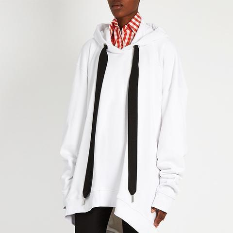 Oversized Hooded Cotton-Blend Sweatshirt