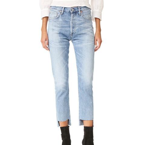Liya Hi-Lo Hem Jeans