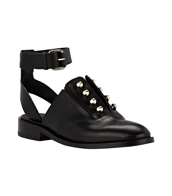 Balenciaga Pierced Ankle-Strap Oxfords