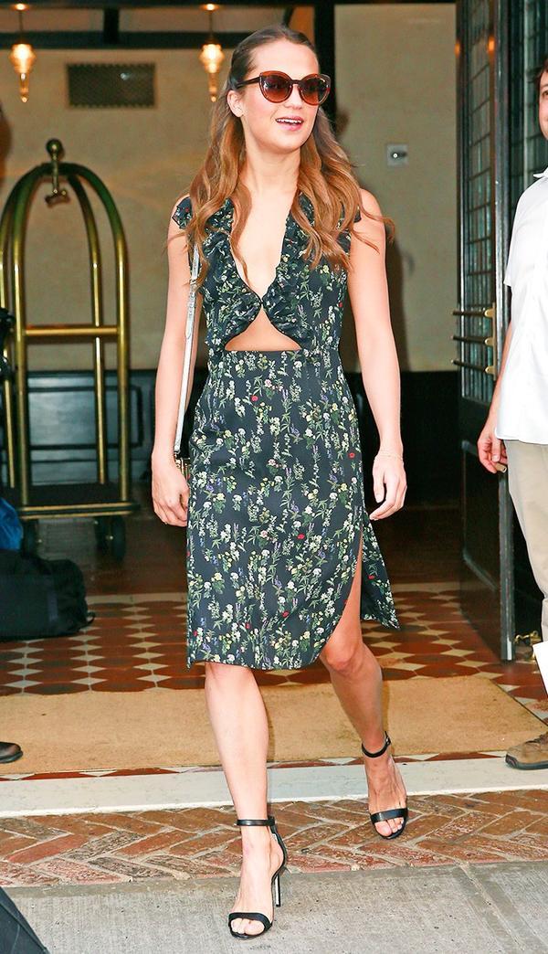 Alicia Vikander cut-out dress