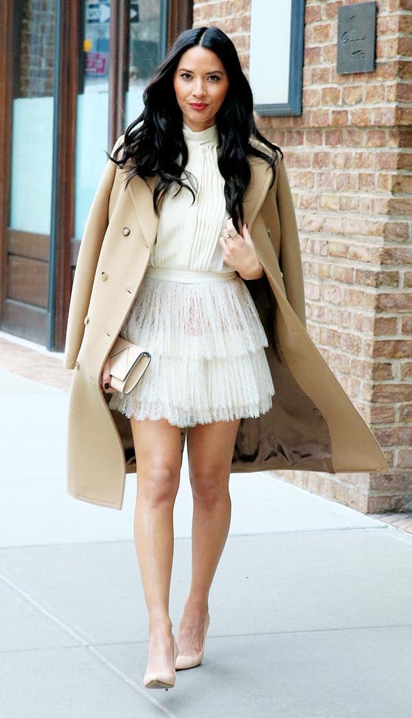 Olivia Munn, white dress