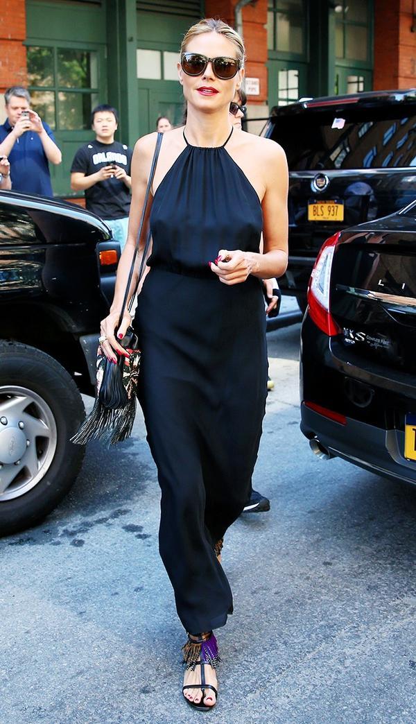 Heidi Klum, maxi dress
