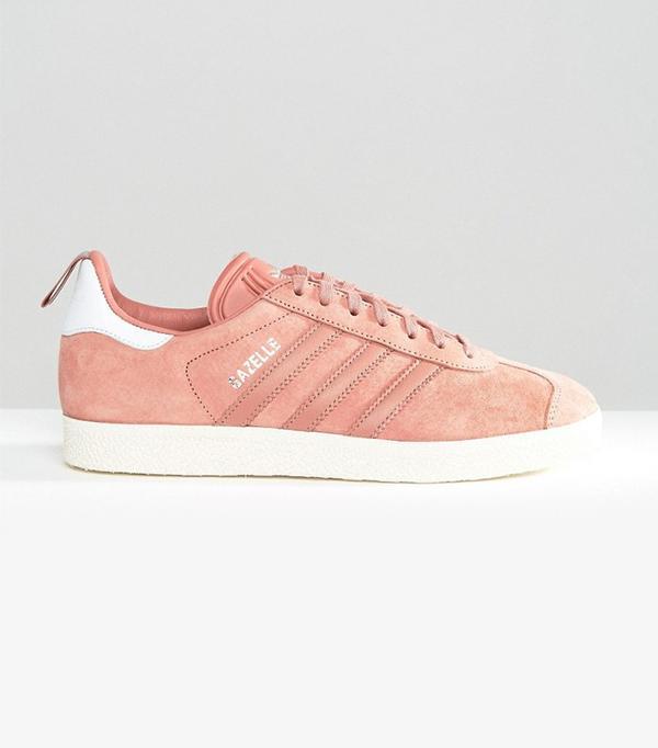 Adidas Originals Dusky Pink Ponyskin Gazelle Trainers