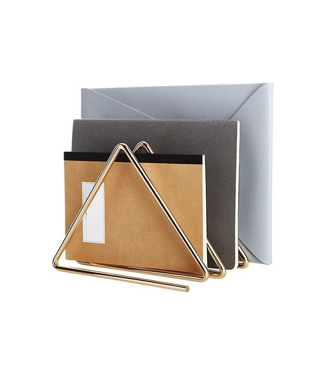 CB2 Gilded File Holder