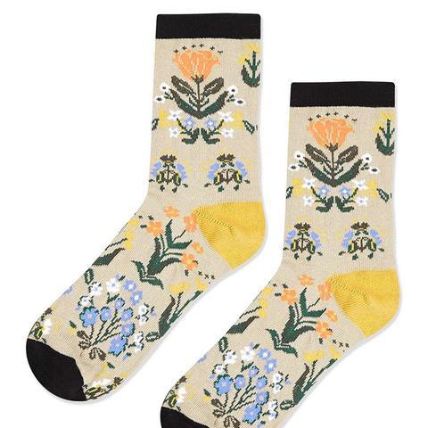 Floral Ankle Socks