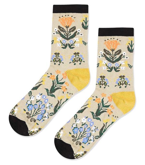 Topshop Floral Ankle Socks