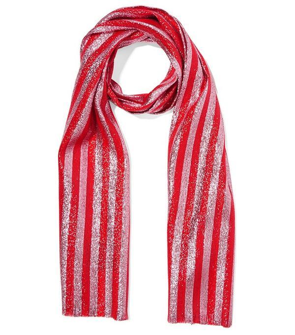 Gucci Striped silk-blend lamé scarf