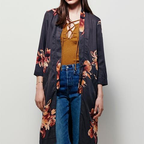Printed Slim Kimono