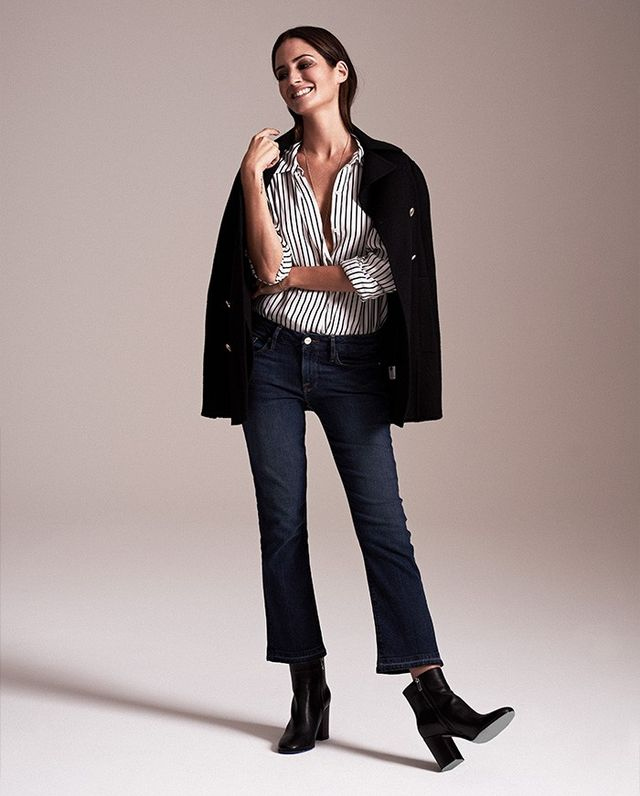 """It's no secret that jeans are a fashion-girl staple. Gonzalez's tip for keeping your look fresh? """"Try wearing two or three denim pieces in one outfit, or pair fun cropped flares..."""
