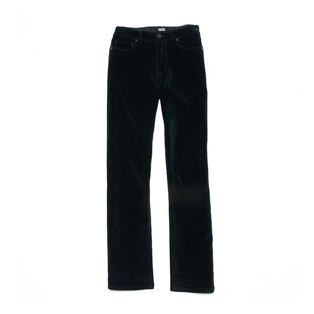 Paige Jacqueline Velvet Crop Straight Jeans