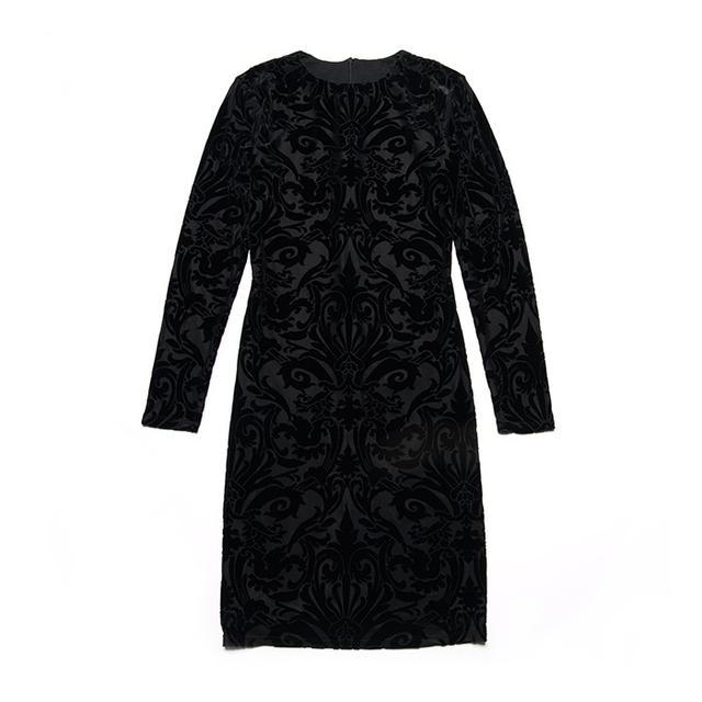 Aqua x Maddie & Tae Velvet Burnout Dress
