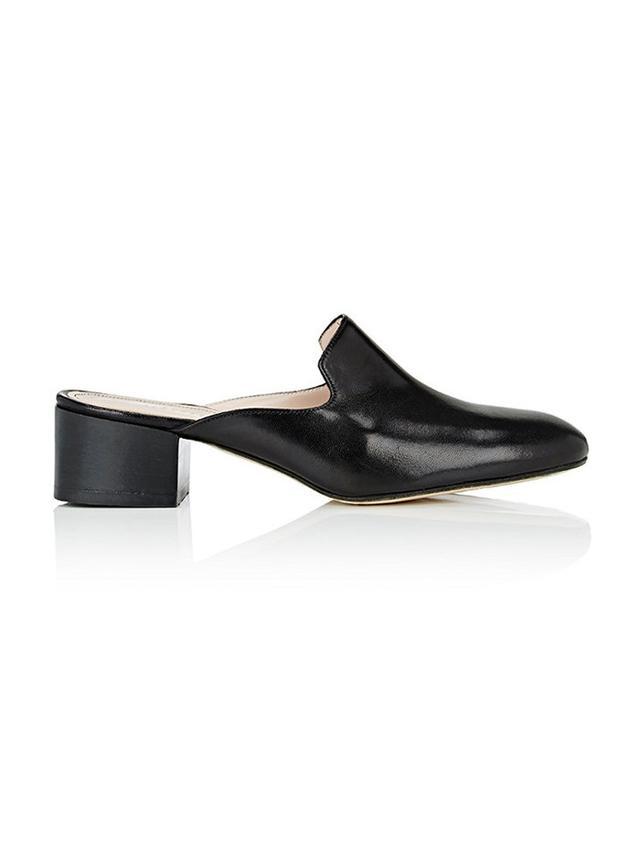 Barneys New York Block-Heel Mules
