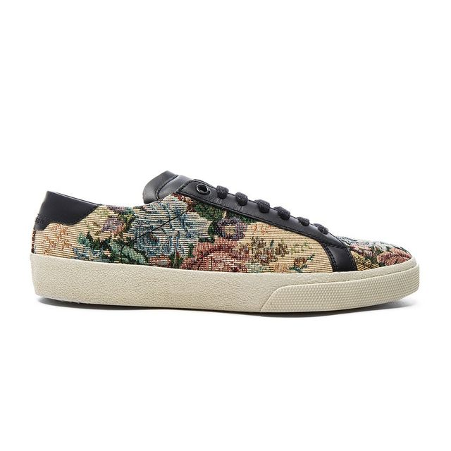 Saint Laurent Court Classic Floral Tapestry Sneakers