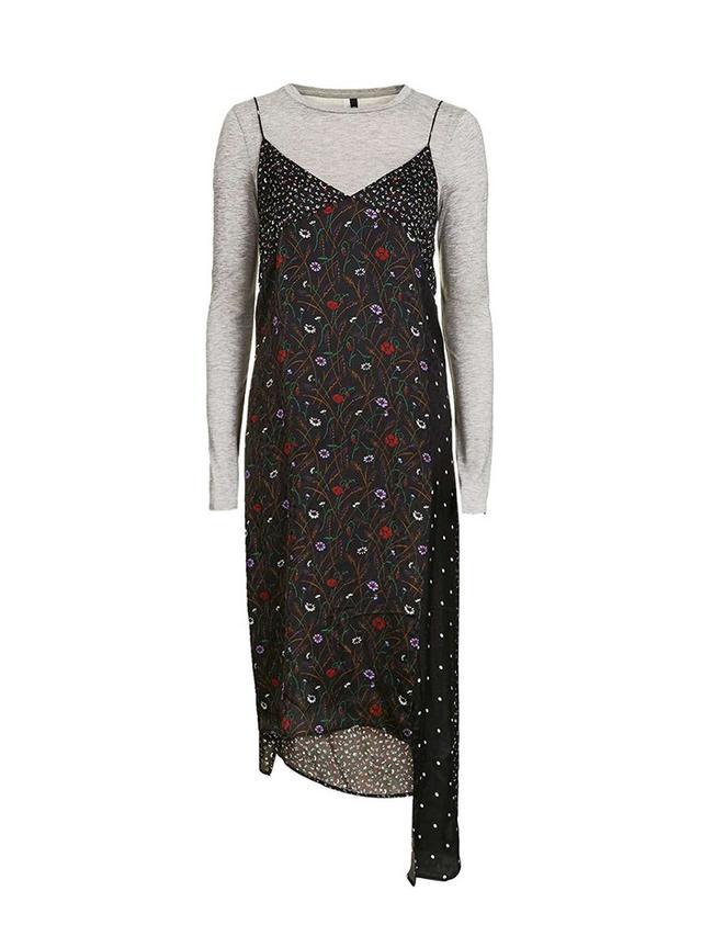Topshop Hybrid Mix Print Dress by Boutique