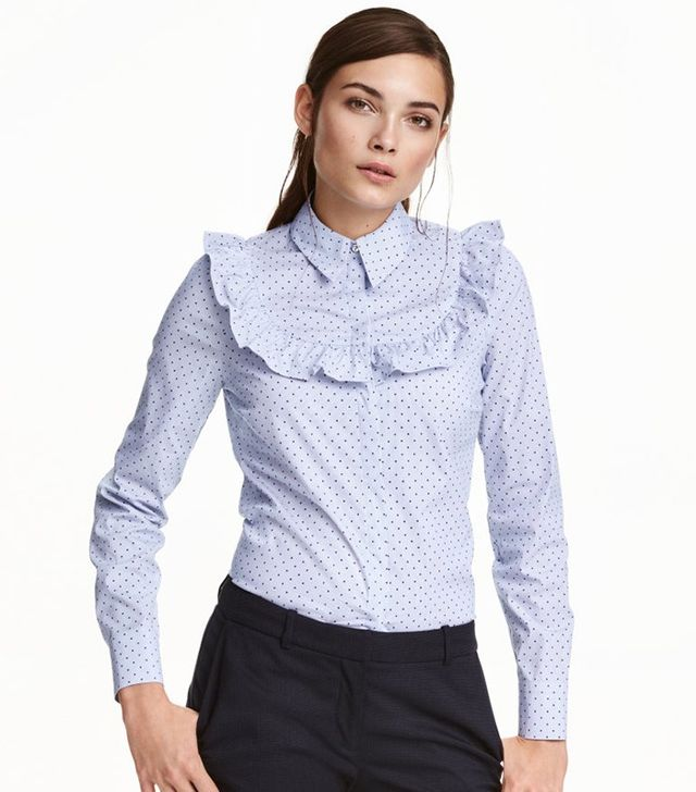H&M Blouse With Ruffle