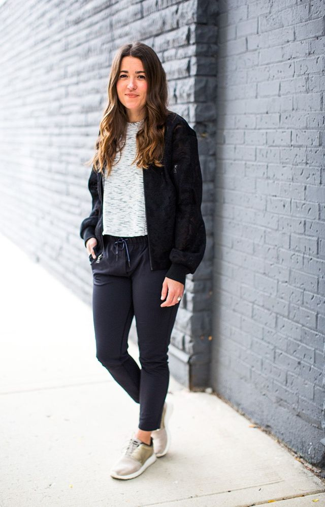 """It's easy to throw on workout clothes and call it a day, but I know it takes an extra layer to really make it an outfit. For that reason, experimenting with the bomber jacket was a..."
