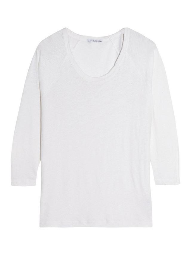 James Perse Slub Linen and Cotton-Blend Top