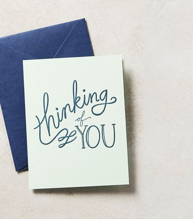 Anthropologie Thinking of You Card