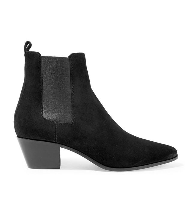 Saint Laurent Suede Rock Chelsea Boots