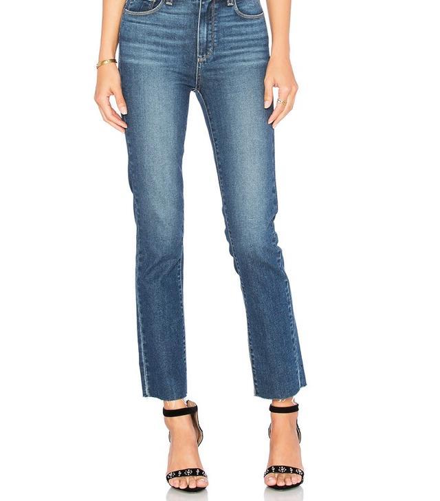 Paige Denim Jacqueline Unfinished Hem Straight Leg Jeans