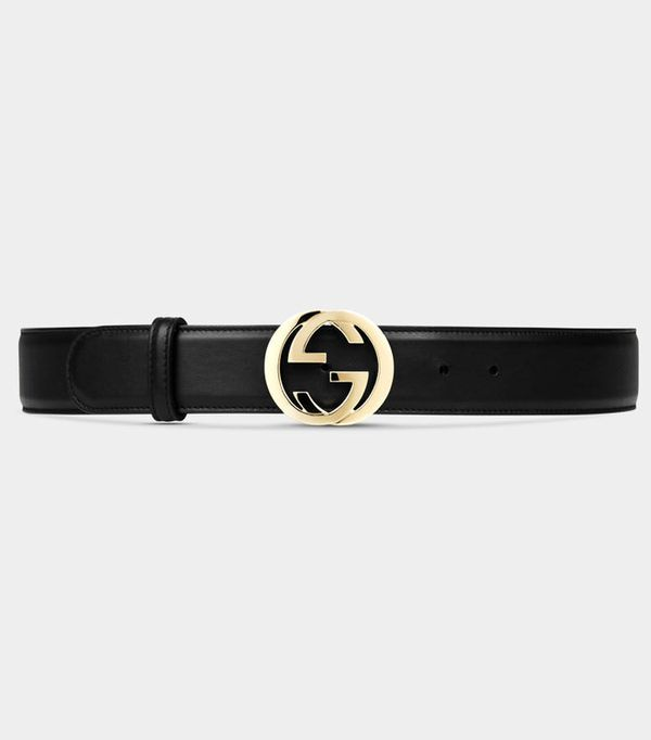 Gucci belt: Gucci Leather Belt with Interlocking G Buckle