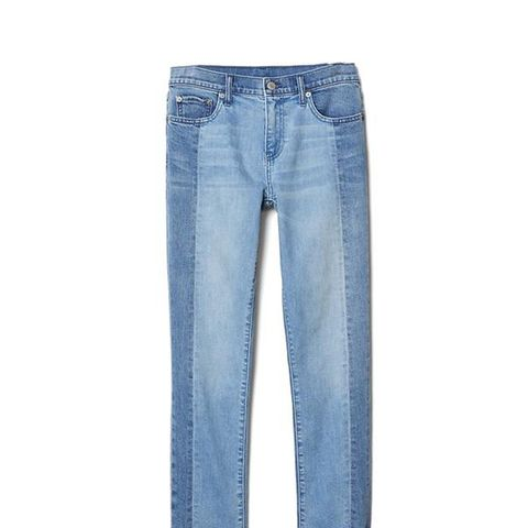 Authentic Two-Tone Straight Jeans
