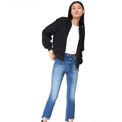 Rose Crop Step Jeans