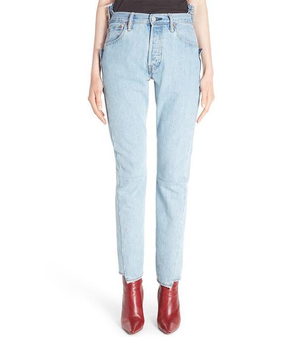 Vetements Reworked High Waist Jeans