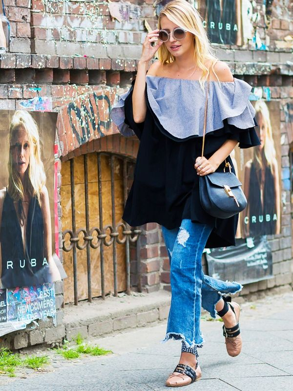 Style Notes: Double ruffles and off the shoulder? Now you're spoiling us.