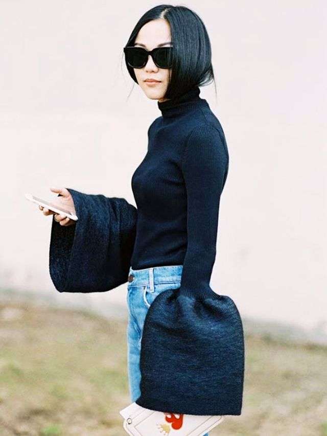Céline's bell-sleeve must-have For so long our outfits bobbed along with grey marl tees, white shirts and navy sweaters, allowing statement skirts, killer denim and trophy jackets to take...