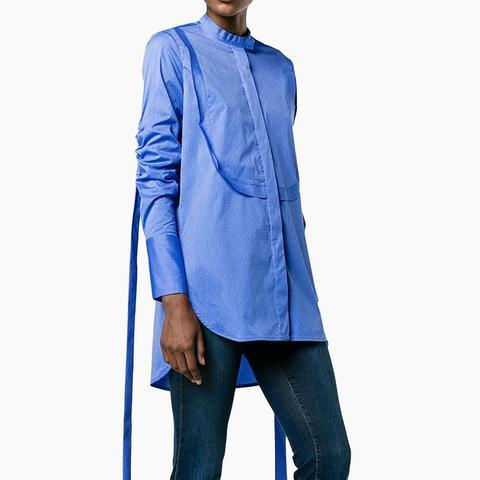 Melodrama Ruched Cotton Shirt