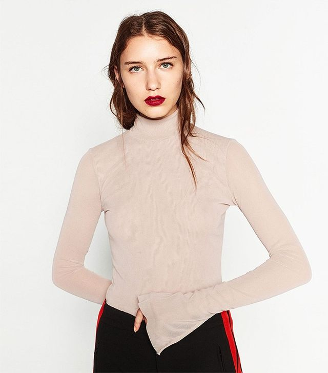 Zara Tulle High Neck Top