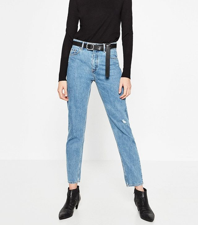 Zara High Waisted Mum Fit Jeans