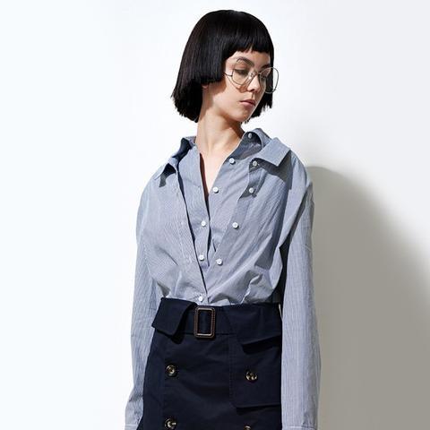 Pinstripe Long Sleeve Cotton Shirt