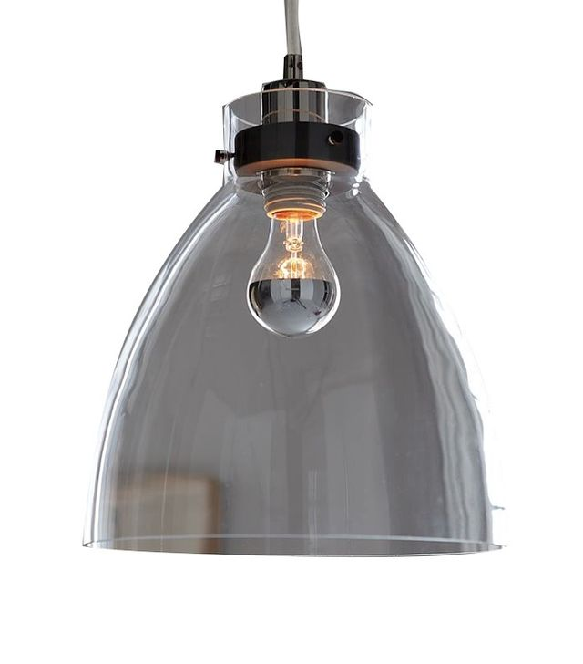 West Elm Industrial Glass Pendant