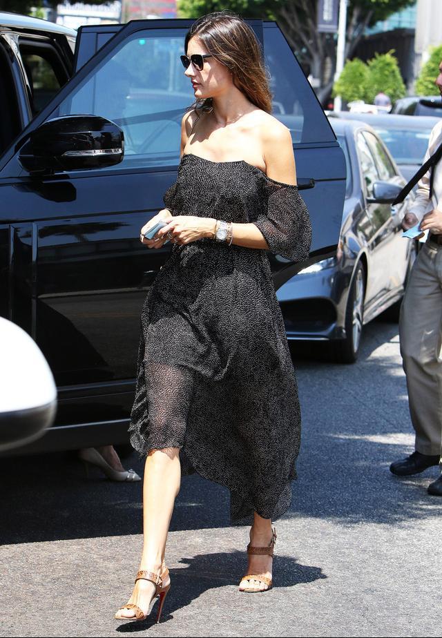 Alessandra Ambrosio Camilla and Marc Draped Evening Dress