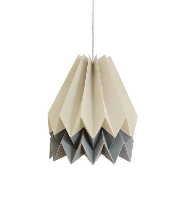 Orikomi Light Taupe With Alpine Grey Stripe Pendant