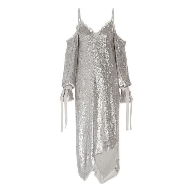 Magda Butrym Lancaster Sequined Chiffon Midi Dress