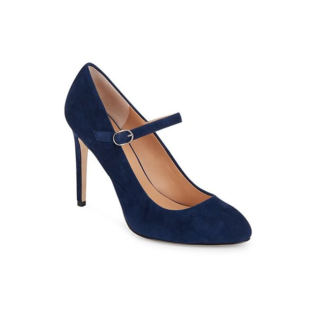 Halston Heritage Suede Leather Mary Jane Pumps