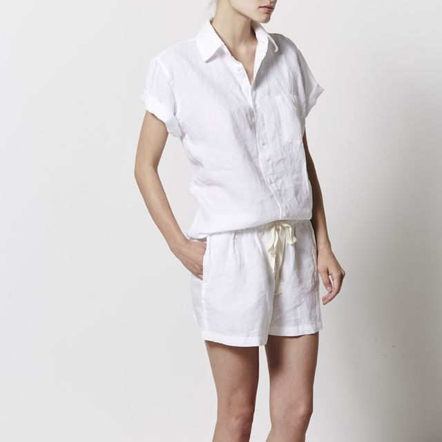In Bed Store Short Sleeve Shirt in Linen