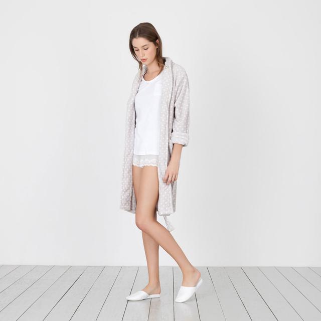 Zara Home Polka-Dot Fleece Housecoat