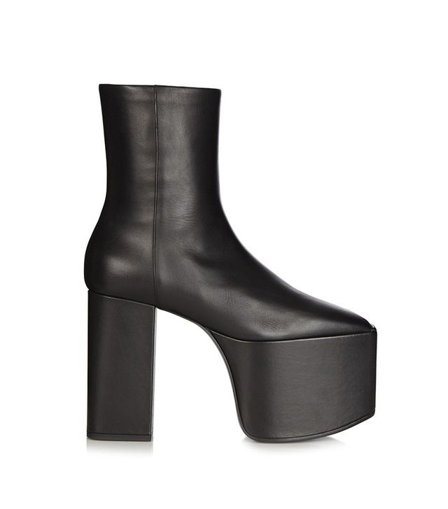 Balenciaga Platform Leather Ankle Boots