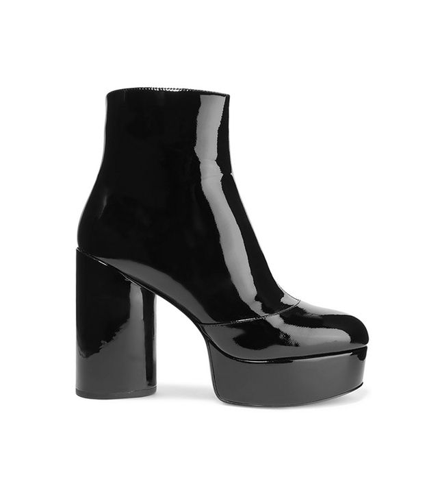 Marc Jacobs Amber Patent-Leather Platform Ankle Boots