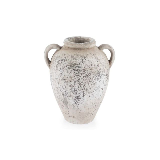 Casa Uno Distressed Ceramic Amphora Vase