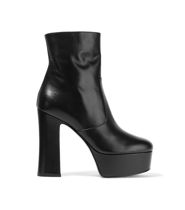 Saint Laurent Candy Leather Platform Boots